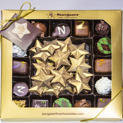 3-5 bar or stars plus 16 assorted truffles