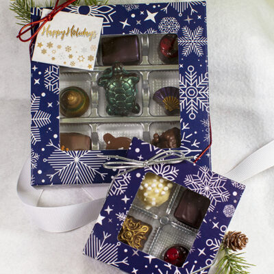 4 or 9 Piece Assorted Truffles in a Holiday Box