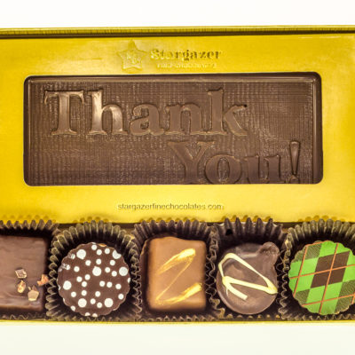 5.5″ Medium Chocolate Bar +5 Assorted Truffles