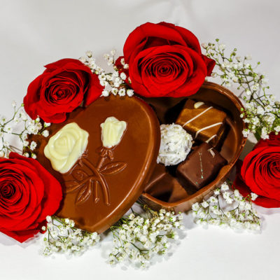 Edible Valentine's Chocolate Box with Truffles